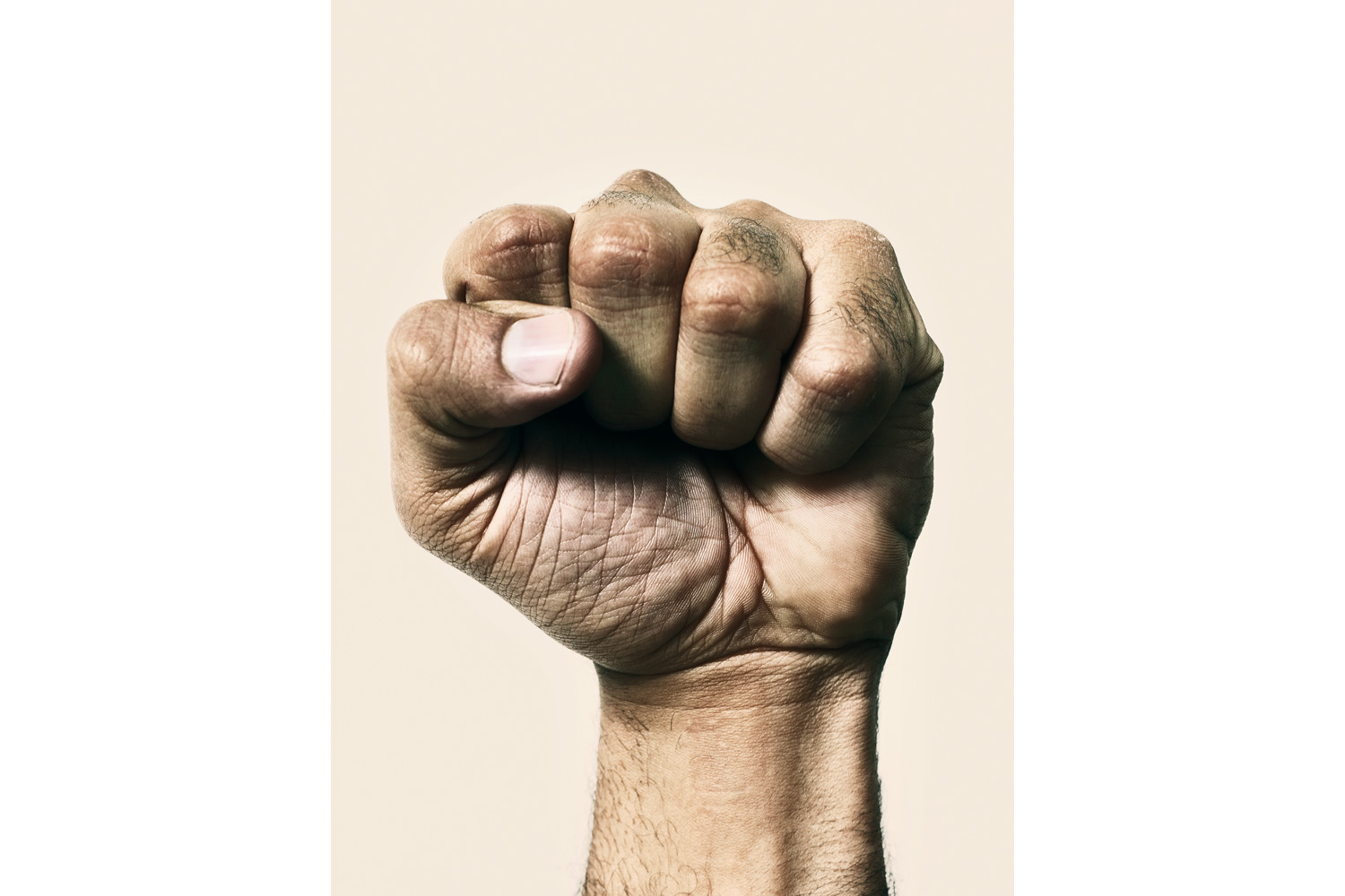 The clenched fist of an Egyptian protester.