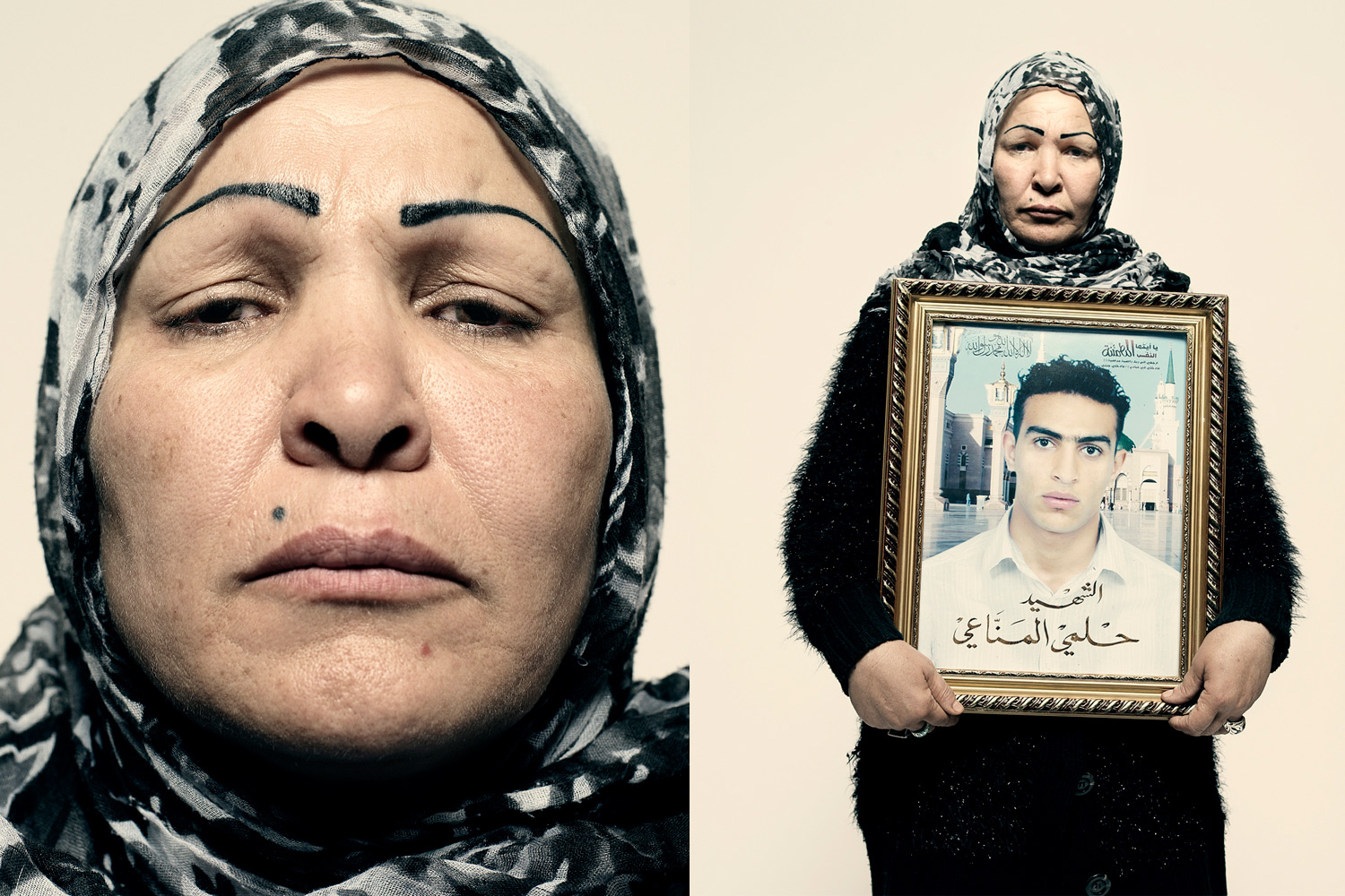 Sayda al-Manahe's son Hilme was shot by a sniper during a protest in Tunis on Jan. 13. He was buried the day Ben Ali fled the country.  My son is now a symbol, a symbol of Tunis. He gave his life so we can have freedom.