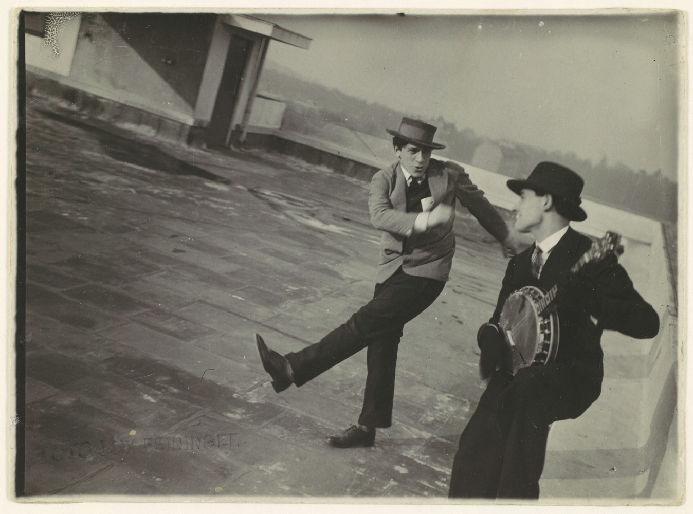 Charleston on the Bauhaus Roof, 1927 by Theodore Lux Feininger.