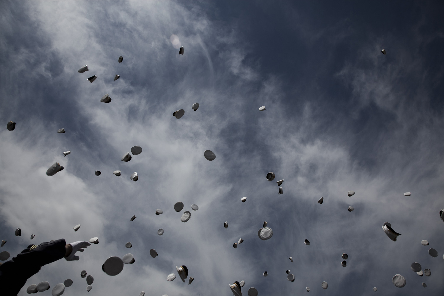 May 21, 2011. A view from the United States Military Academy's commencement in West Point, N.Y.