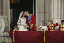 The world celebrated the marriage of Prince William and Kate Middleton with parades and parties, but for one key participant, the festivities were a little too much. Three-year-old Grace Van Cutsem, one of the bridesmaids, could not handle the roar of the crowd beneath the balcony at Buckingham Palace and covered her ears to block out the noise. The photo of her reaction became an instant internet sensation, rapidly morphing                               into a meme for all occasions. Readers of websites like Buzzfeed                               pasted her into their own photos, A Tumblr page was created                                while others used her face as the                               focal point of videos posted to Youtube.