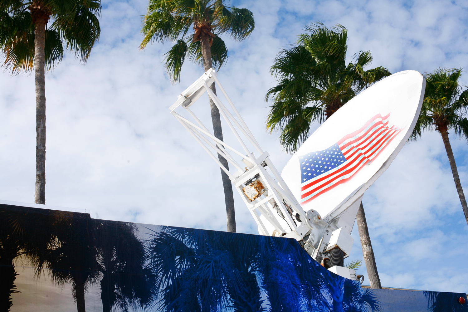 The scene outside the Tampa Convention Center before Romney´s Florida Primary event, January 31, 2012.