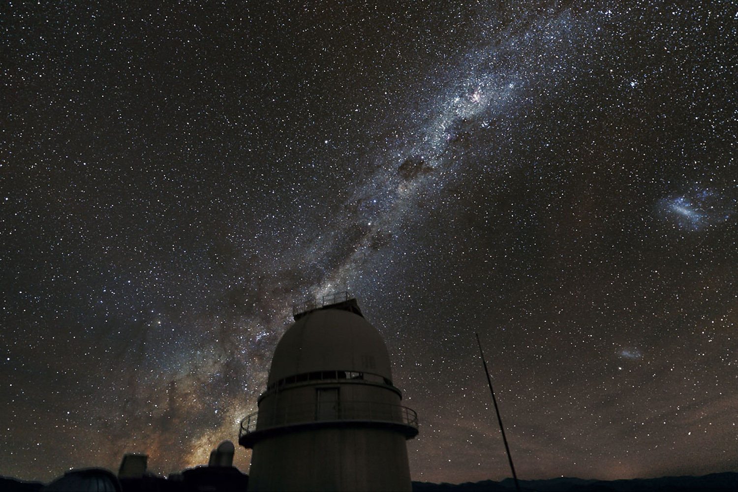 January 11, 2012. The Milky Way illuminates the sky above the dome of the Danish 1.54-metre telescope at ESO's La Silla Observatory in Chile.