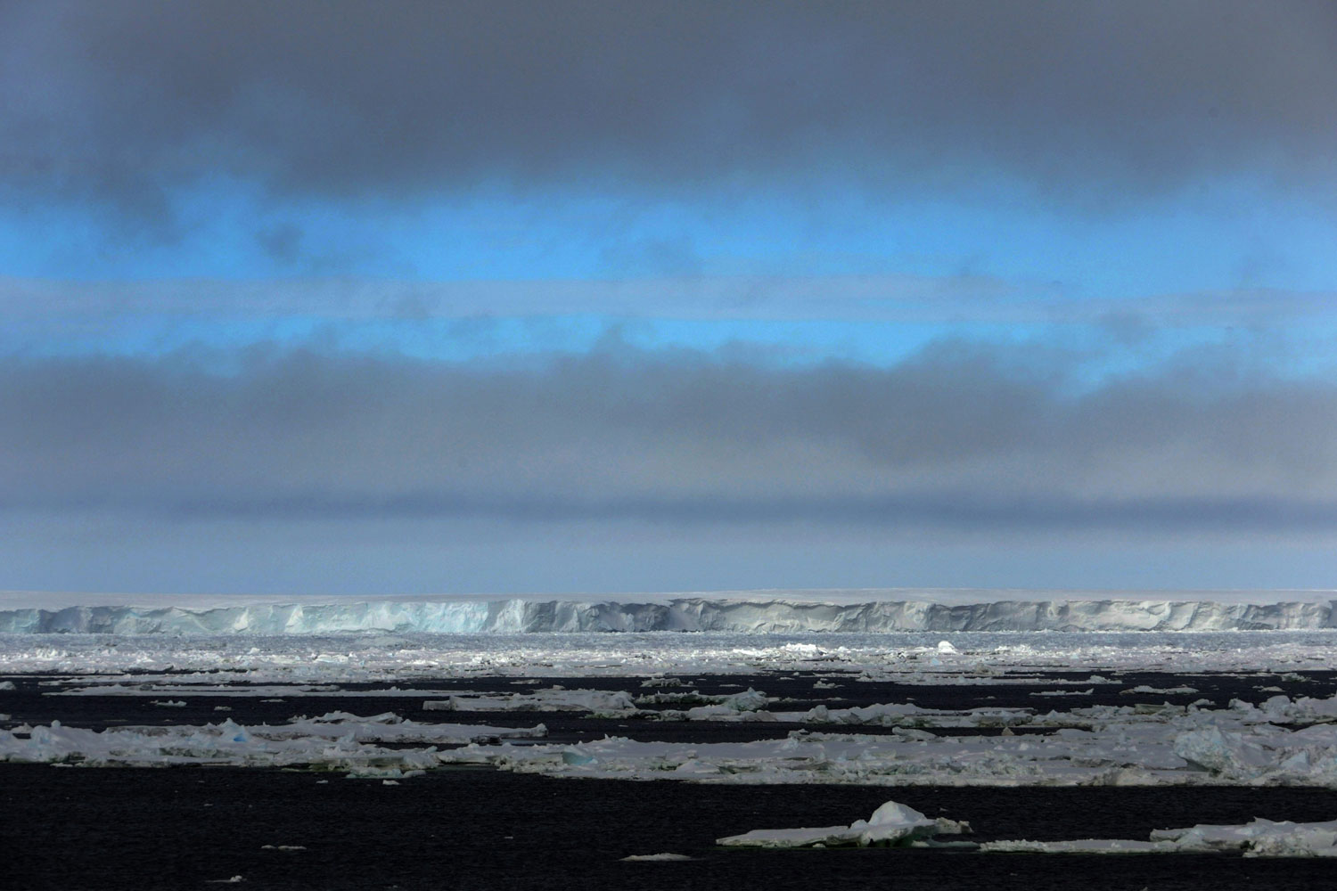 January 11, 2012. The Mertz Glacier near Commonwealth Bay in Antarctica. The 80 km long tongue of the Mertz Glacier was broken off when an iceberg hit the glacier in February 2010.