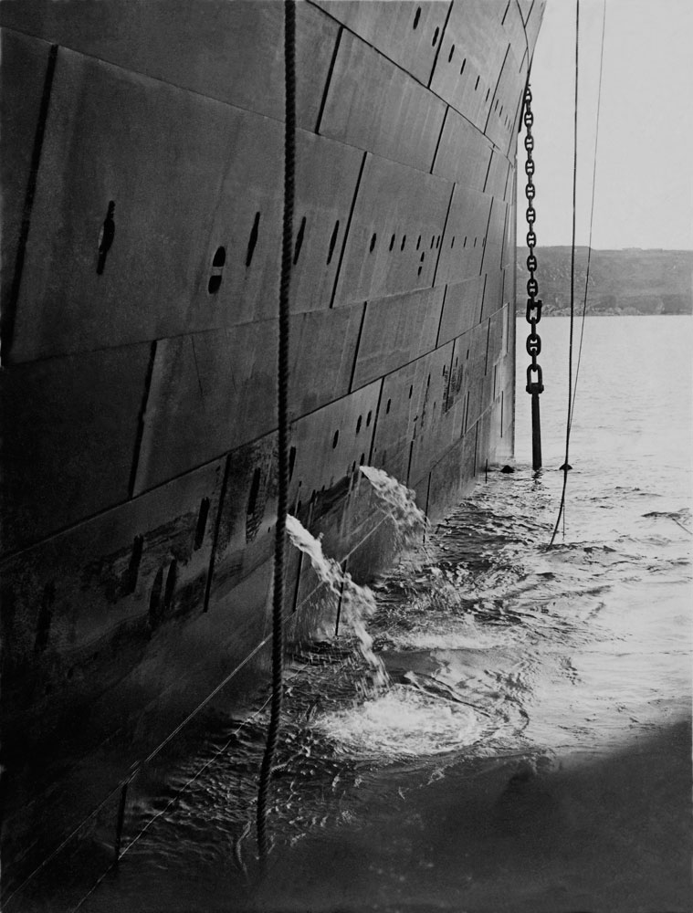 Raising the anchor for the last time, the Titanic departs Queenstown (Cobh), Ireland, at 1:55pm on April 11, 1912.