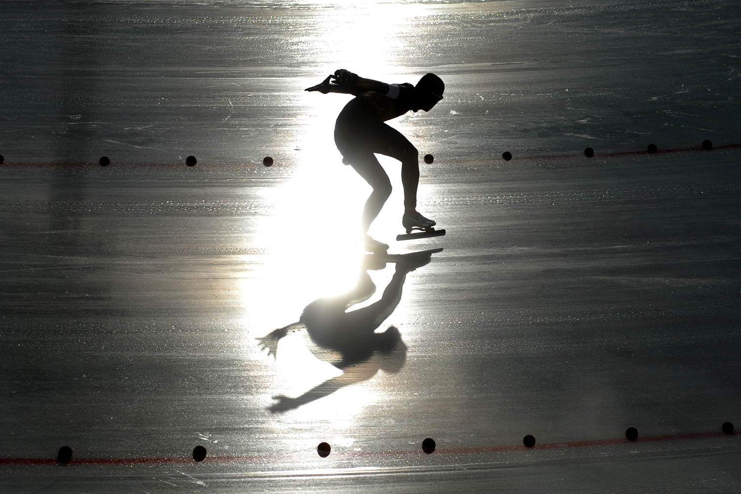 January 14, 2012. Toshihiro Kakui of Japan competes during the men's 500 m speed skating event at the Winter Youth Olympic Games 2012 in Innsbruck, Austria.