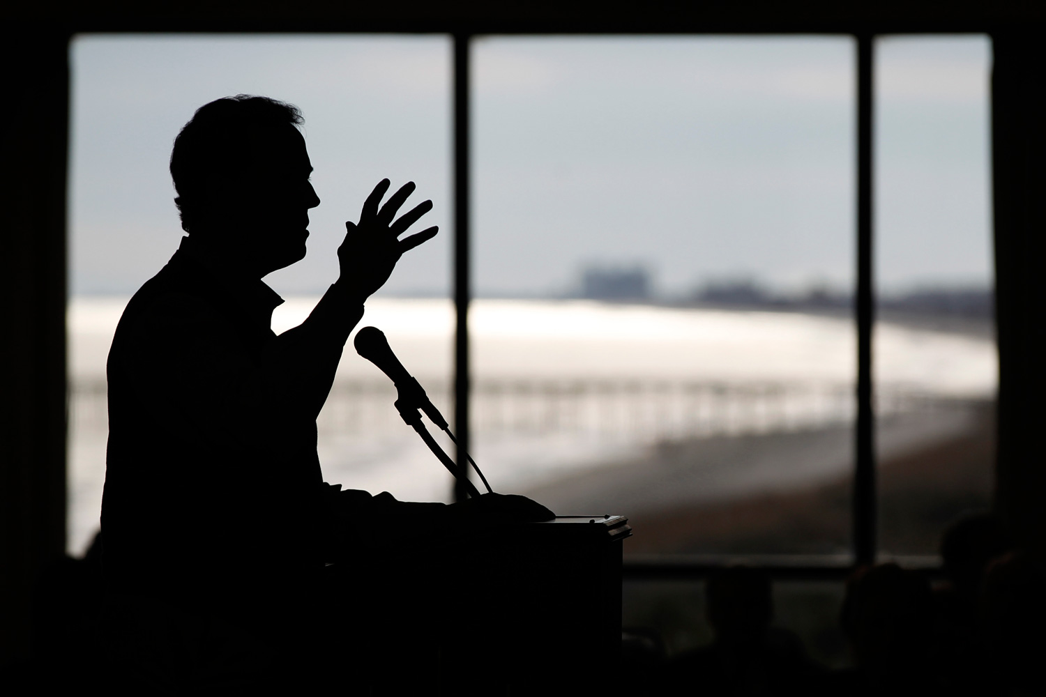 January 16, 2012. Republican presidential candidate and former Pennsylvania Senator Rick Santorum speaks during the Tea Party Convention in Myrtle Beach, S.C.
