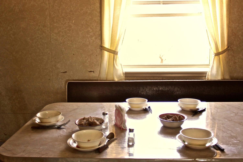 Food at noon. Nuevo Ideal, Durango, Mexico, 2010