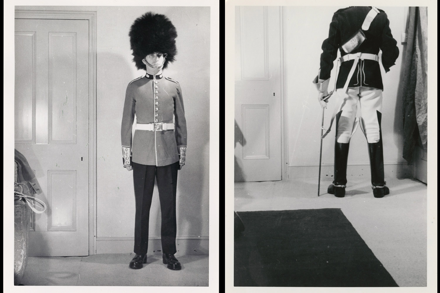 Images from an archive of the Royal Horse Artillery, silver gelatin print, UK, 1960's