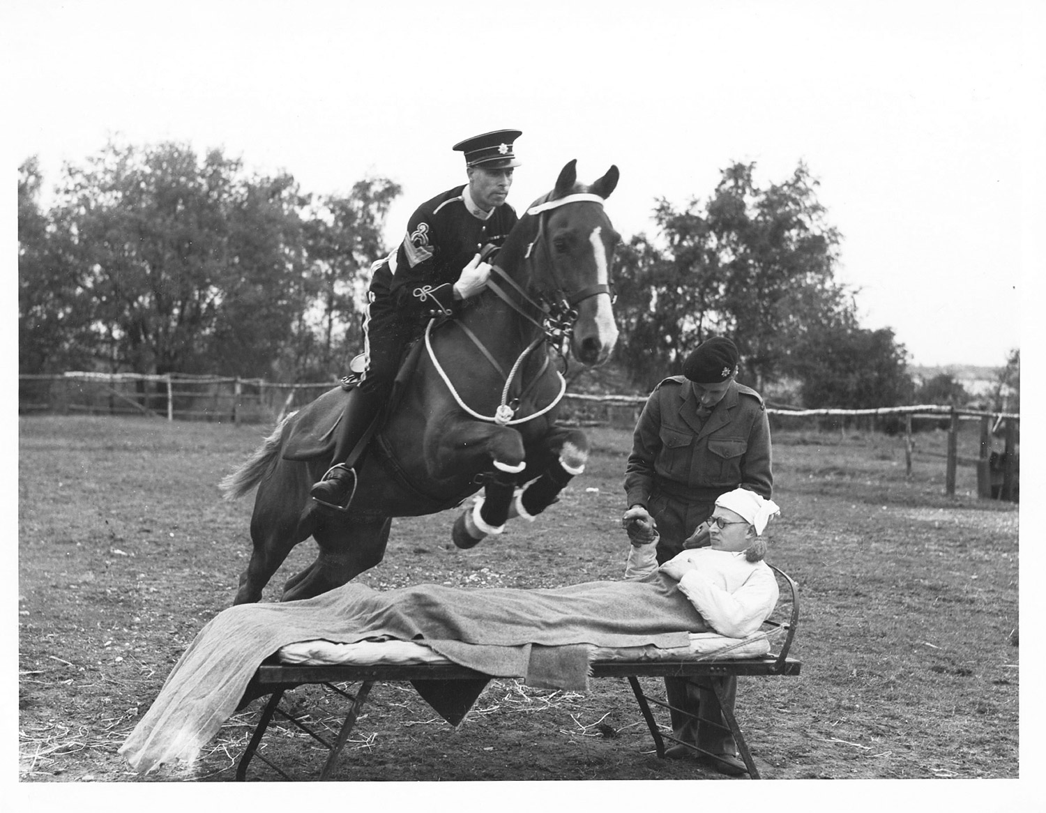 Image from an archive of the Royal Horse Artillery, silver gelatin print, UK, 1960's