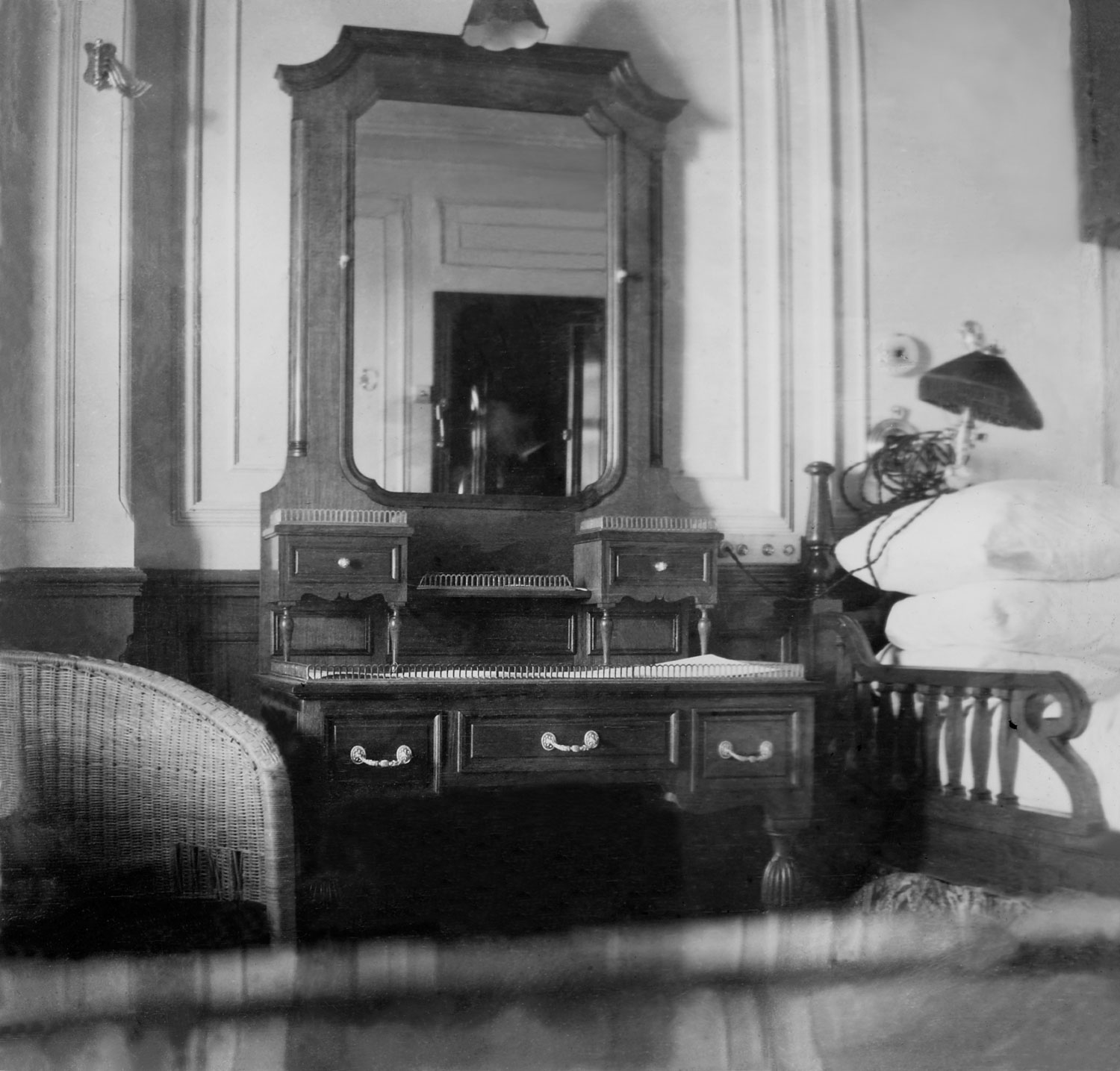 Father Browne's first class stateroom on the Titanic, 1912.