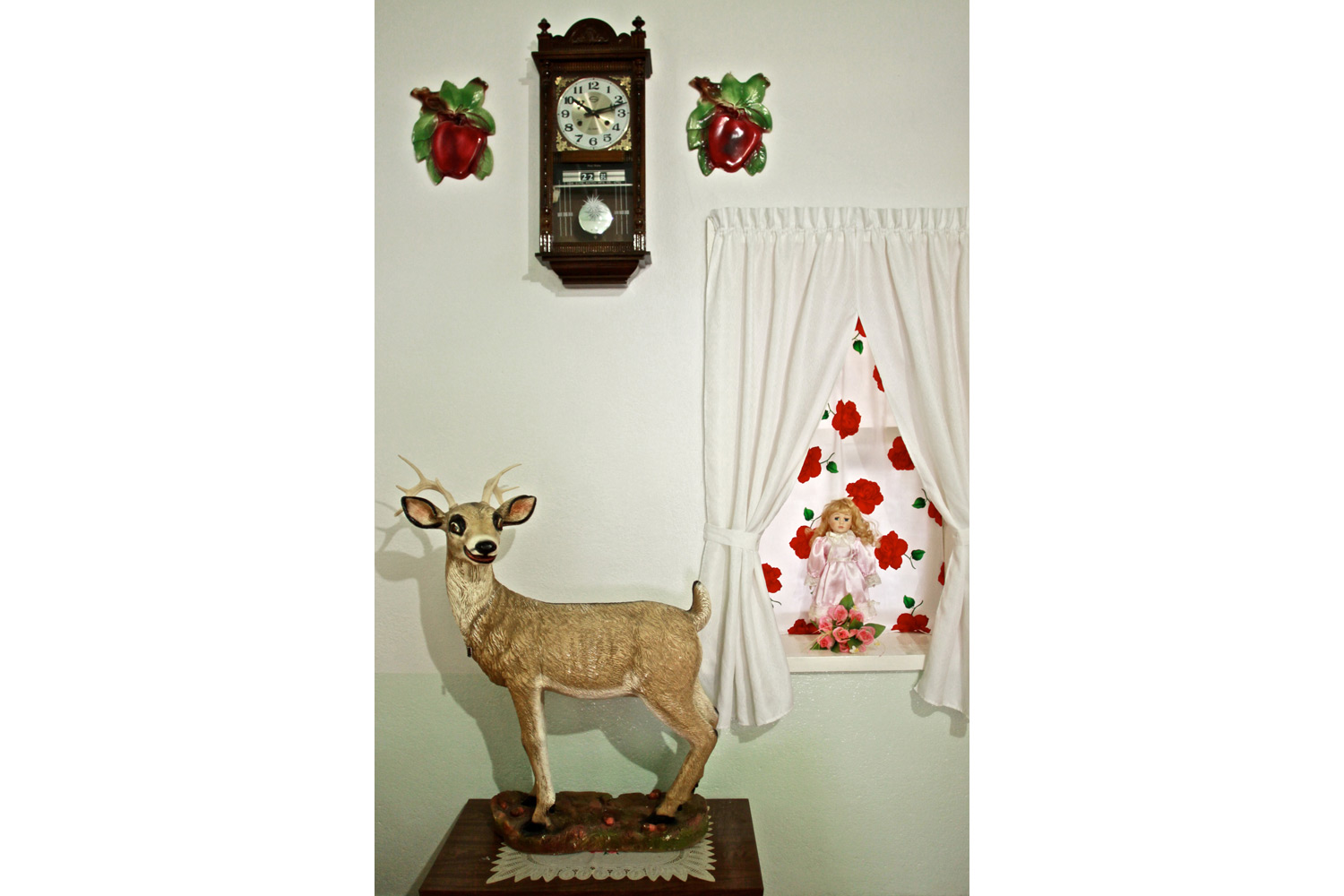 The Peters sister's room. Both the venison and the doll are precious memories from their childhood, Nuevo Ideal, Durango, Mexico, 2010