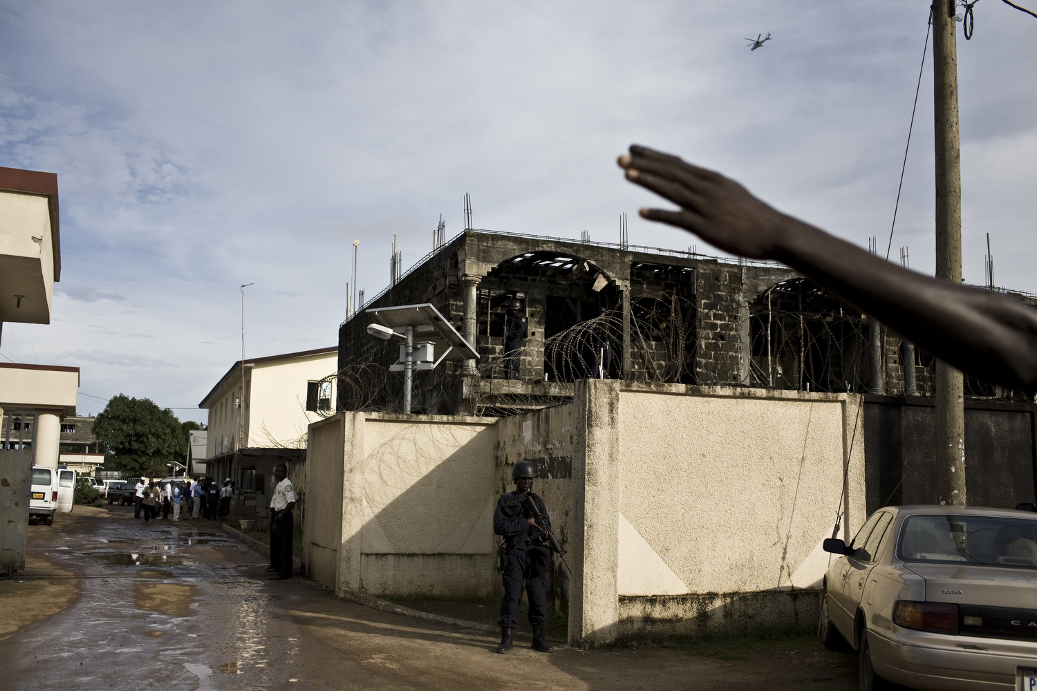The Liberian military were on alert as U.N. helicopters circled overhead before the announcement of election results. Many feared Liberia would descend back into violence.