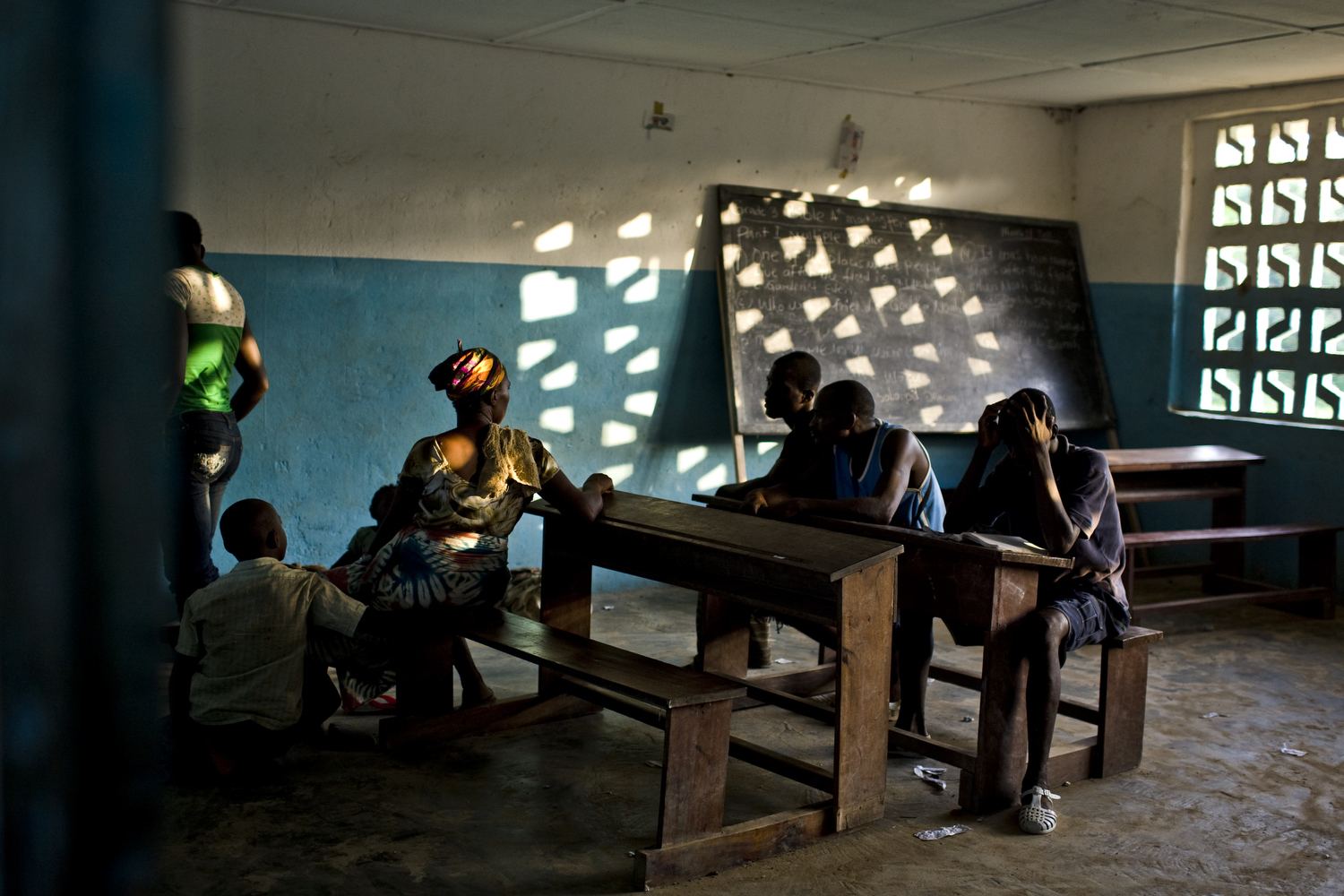A school house on the Liberian border with Ivory Coast.