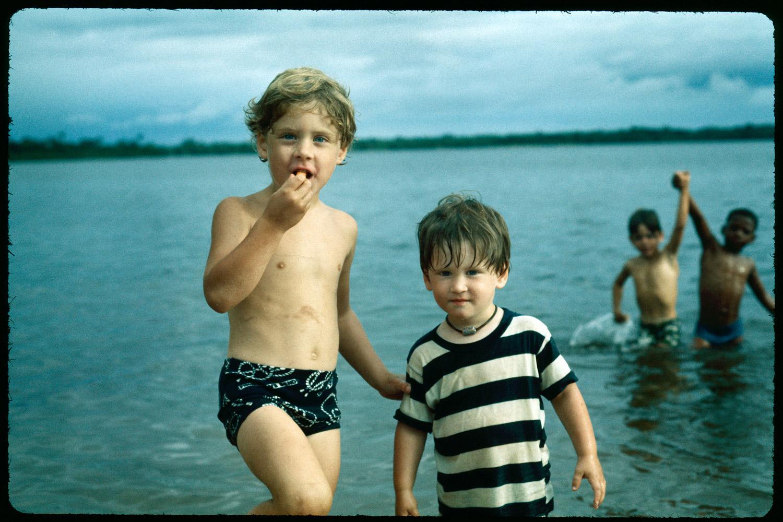 Jeff and Andrew. Marshall Beach, 1977.