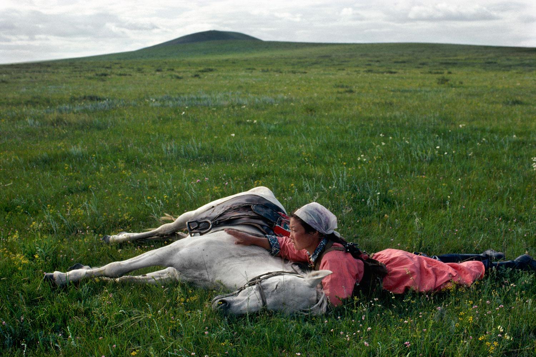 Horse training for the militia, 1979.