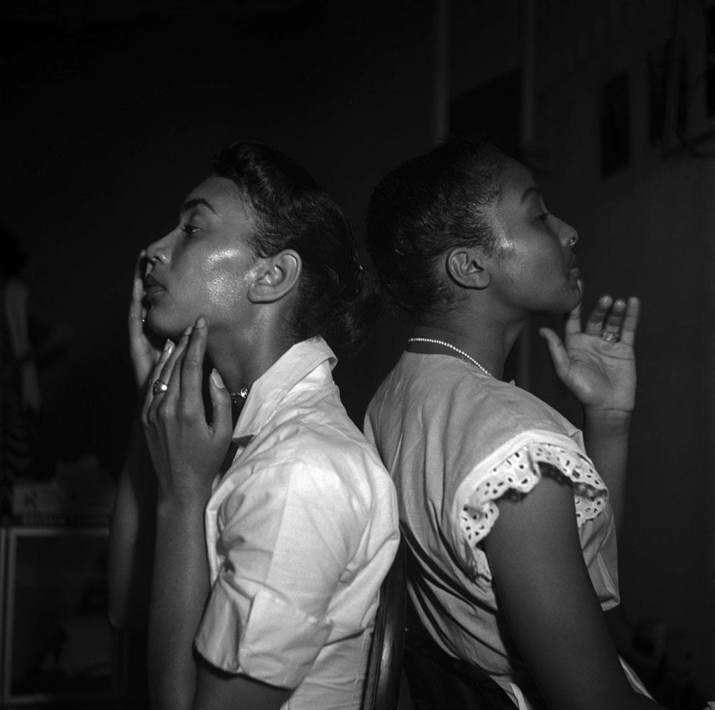 Fashion show in Harlem, New York, 1950.