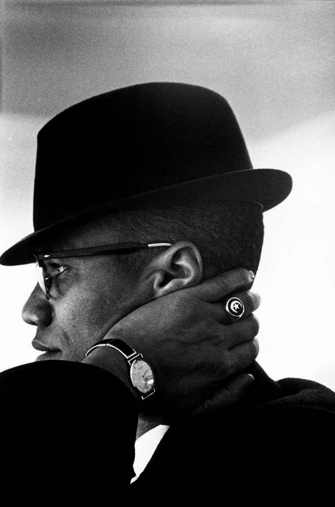 Malcom X, photographed in Chicago. 1961.