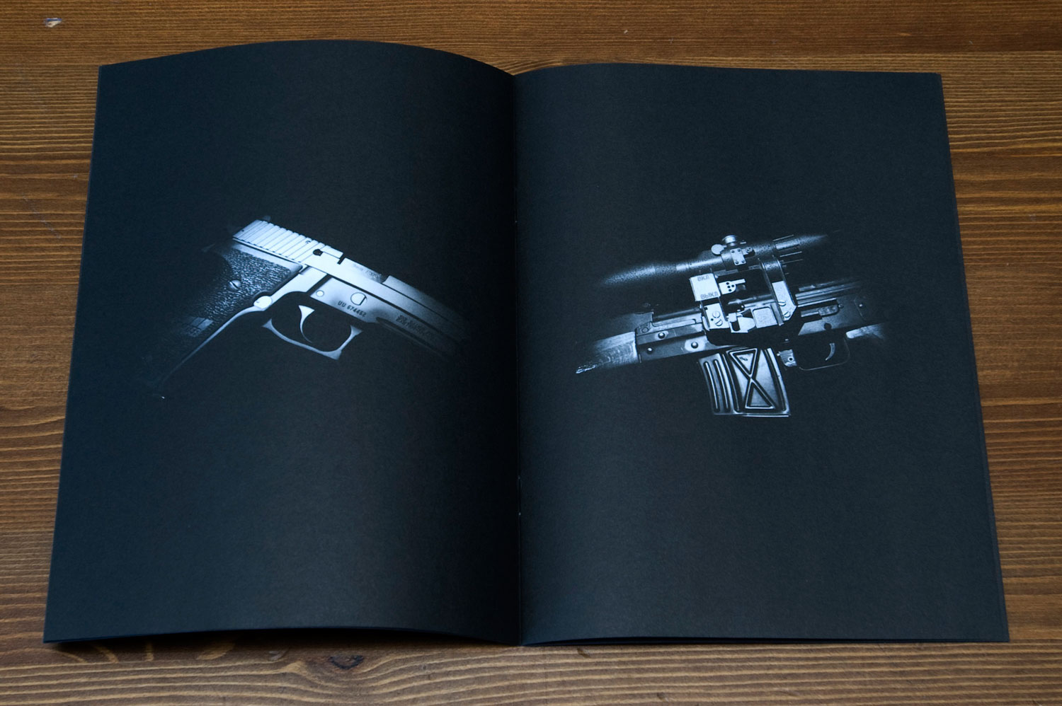 Postcards From America: spread from booklet by Paolo Pellegrin