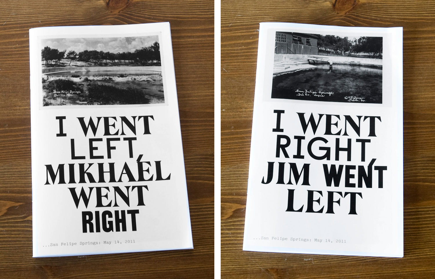 Postcards From America: covers of Mikhael Subotzky and Jim Goldberg collaborative project, booklets