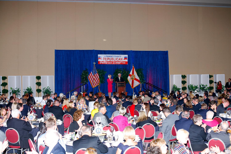 Orange County Republican Executive Committee's annual Lincoln Day Dinner, Rosen Shingle Creek Resort, Orlando, Fla., January 28, 2012.