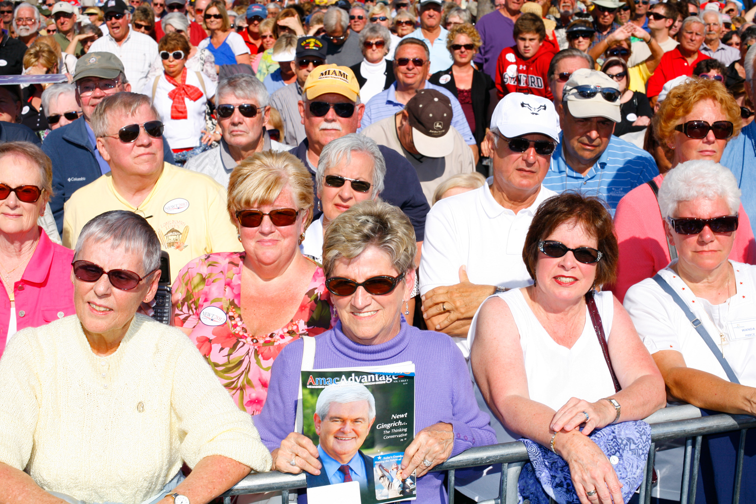 Attendees of a Gingrich rally at The Villages, Fla., January 29, 2012.