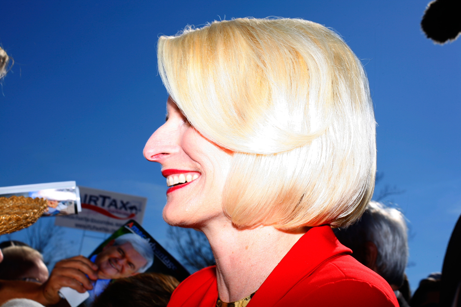 Callista Gingrich during a rally at The Villages, Fla., January 29, 2012.