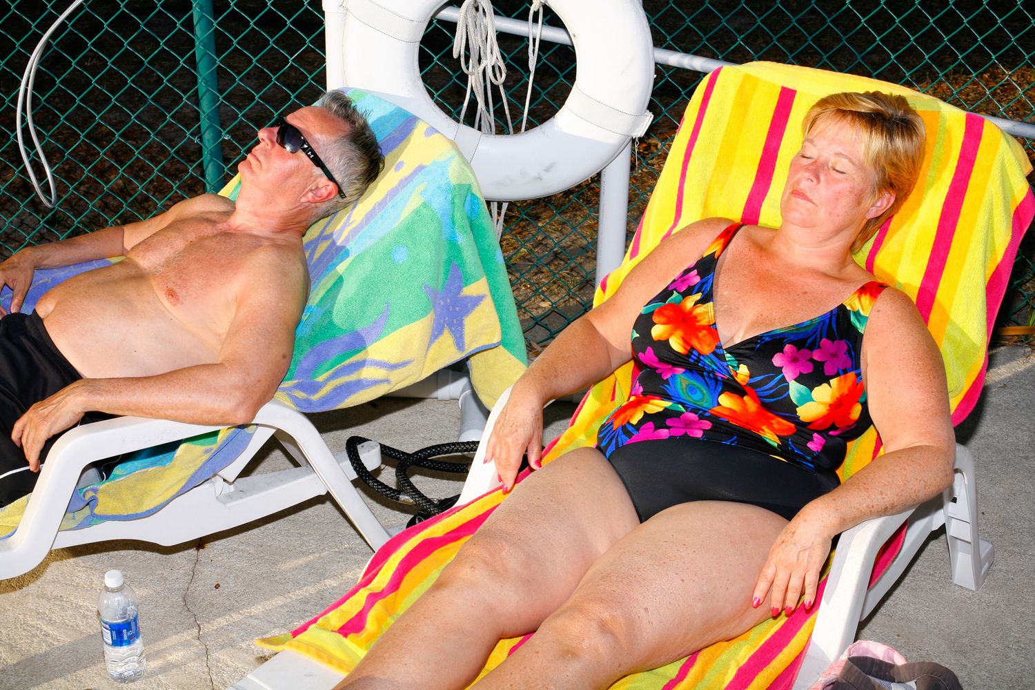 A couple relaxes at The Villages, Fla., January 29, 2012.