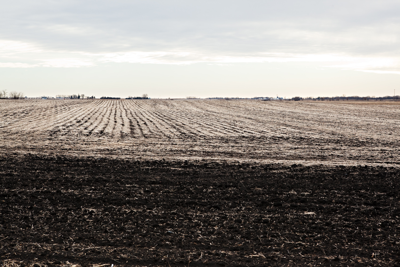 A winter landscape outside of Boone, Iowa on December 31, 2011.