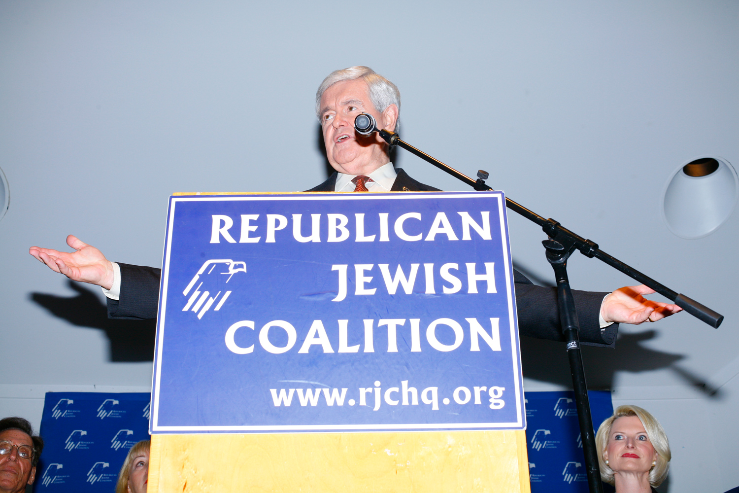 Newt Gingrich addresses the Republican Jewish Coalition in Delray Beach, Fla., January 27, 2012.