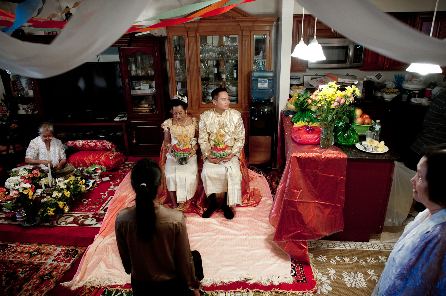 Bronx, New York City, September 2011.Wedding of Molly Sopuok, 38, and Todd Prom, 38, in a Cambodian home.