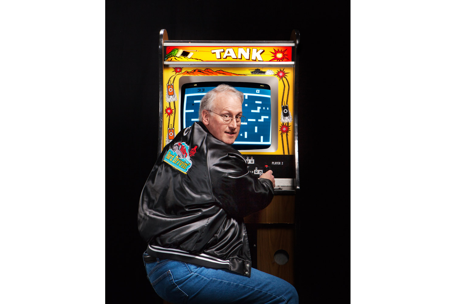 Lyle Rains, Tank (1974)                               His multi-joystick game rolled out several sequels. His new target: Angry Birds.
