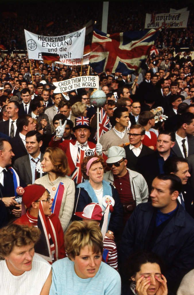 <strong>Not published in LIFE.</strong> Fans, World Cup, England, July 1966.