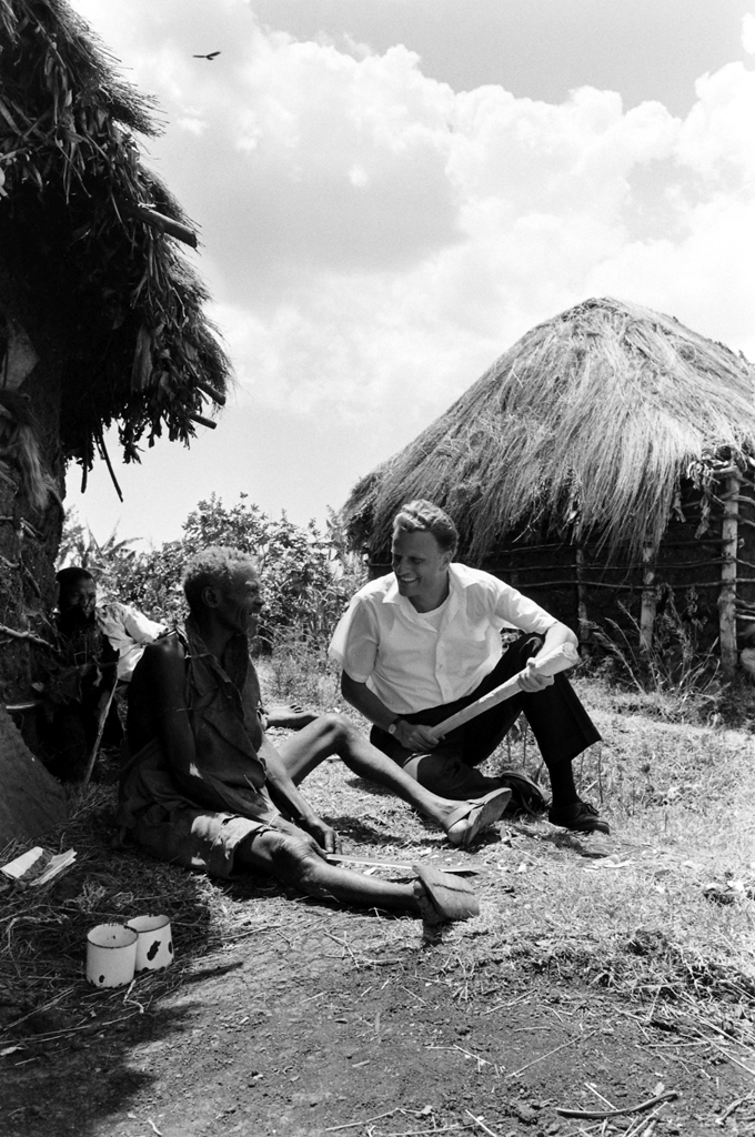 <strong>Not published in LIFE.</strong> Billy Graham in Africa on a six-week crusade in 1960. He traveled 14,000 miles and preached to a third of a million people, some 20,000 of whom raised their hands as a sign of their born-again experience.