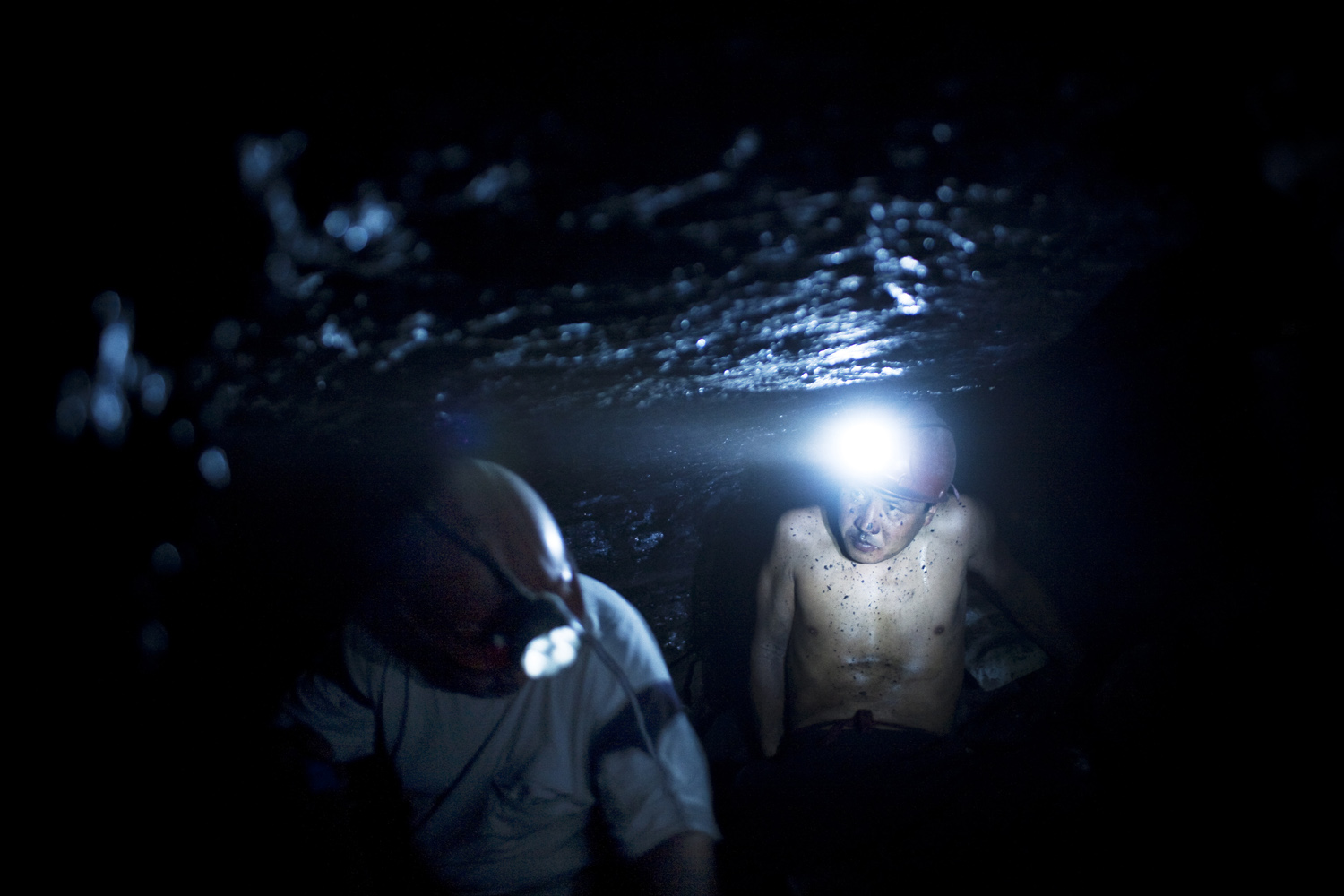 2009. Coal miners in Tash Kumyr. The town used to be a major industrial center, but now struggles to survive.