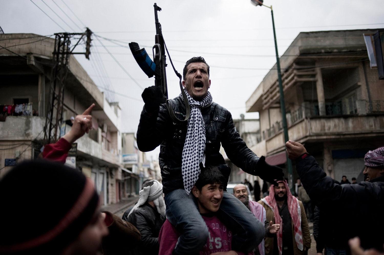 An antiregime demonstration in Al Qsair. Jan. 27, 2012