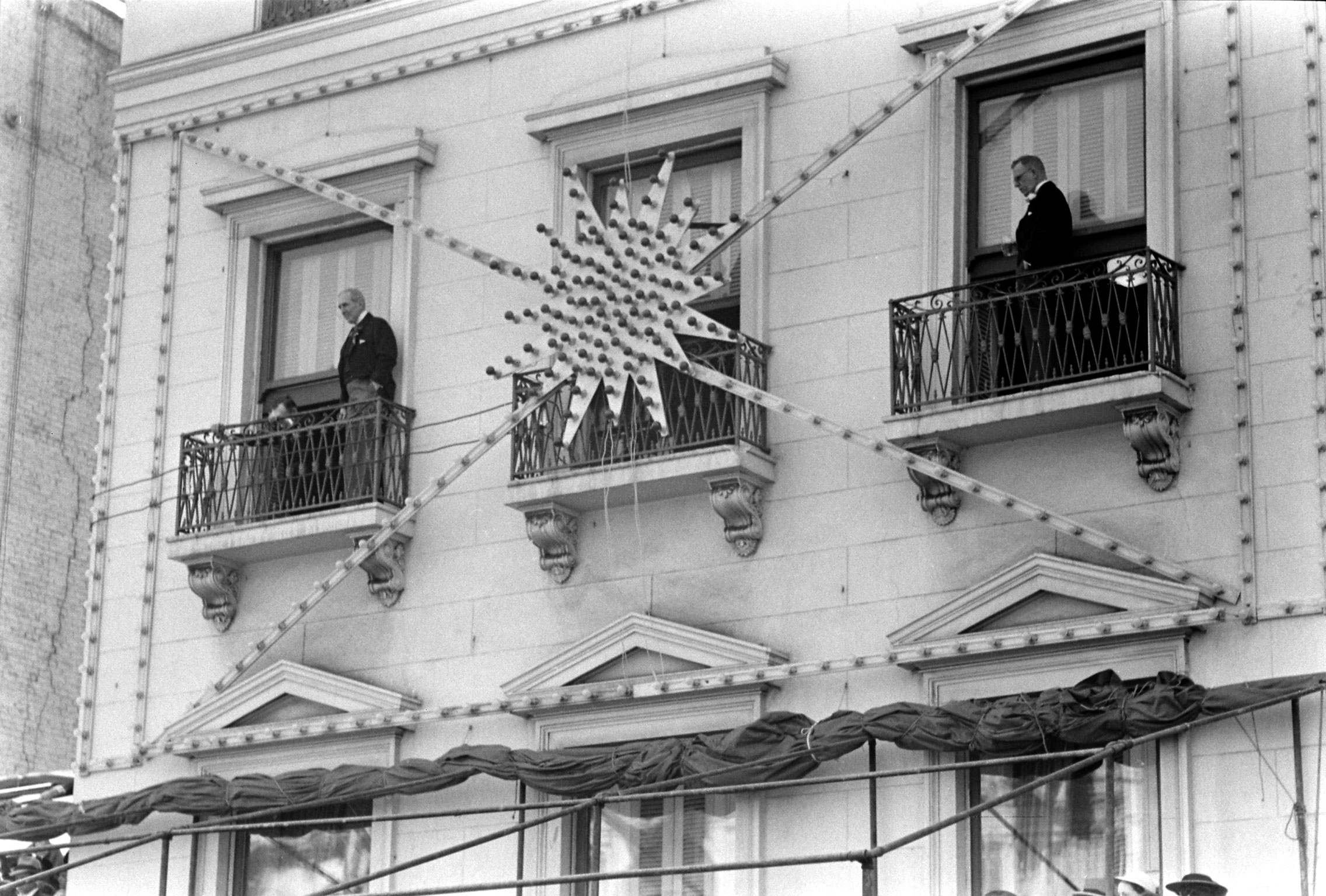 Mardi Gras decorations, New Orleans, 1938.