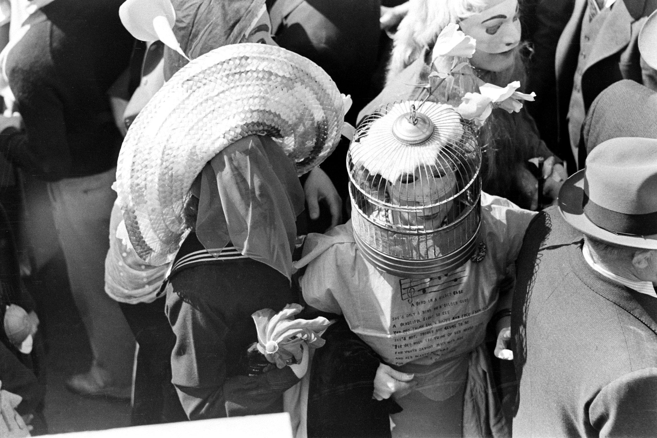 Mardi Gras revelers, New Orleans, 1938.