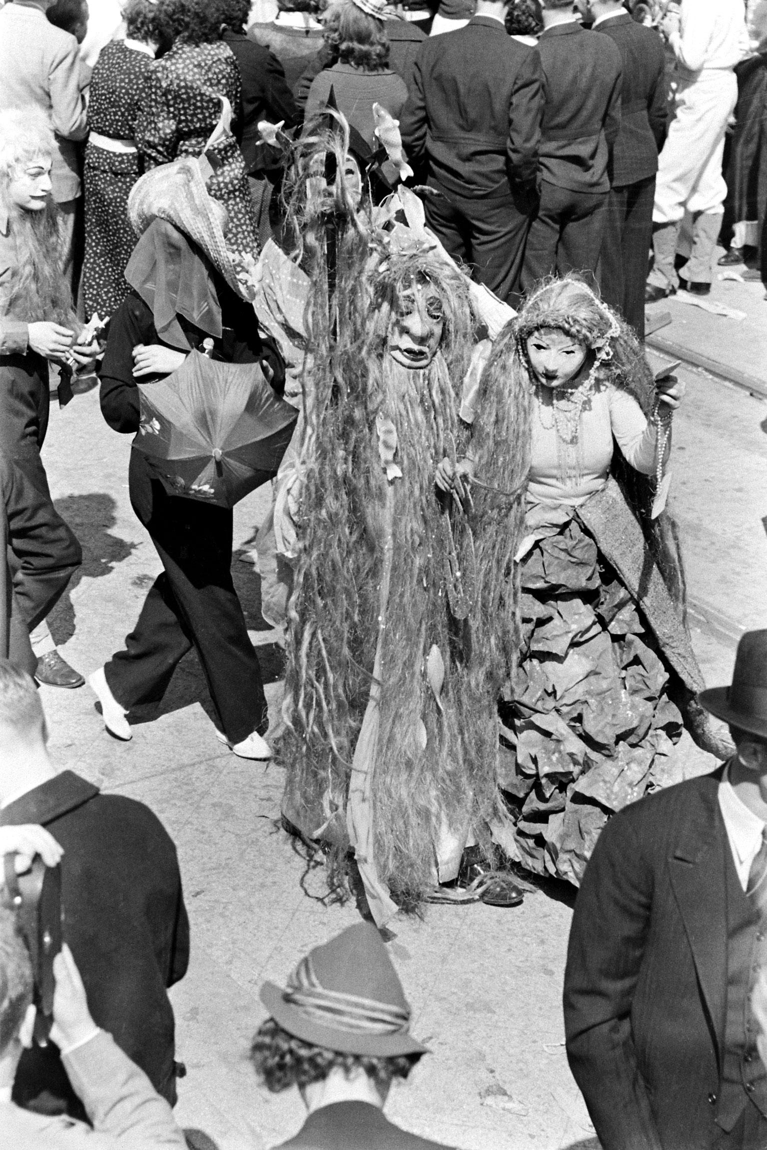 Mardi Gras costumes, New Orleans, 1938.