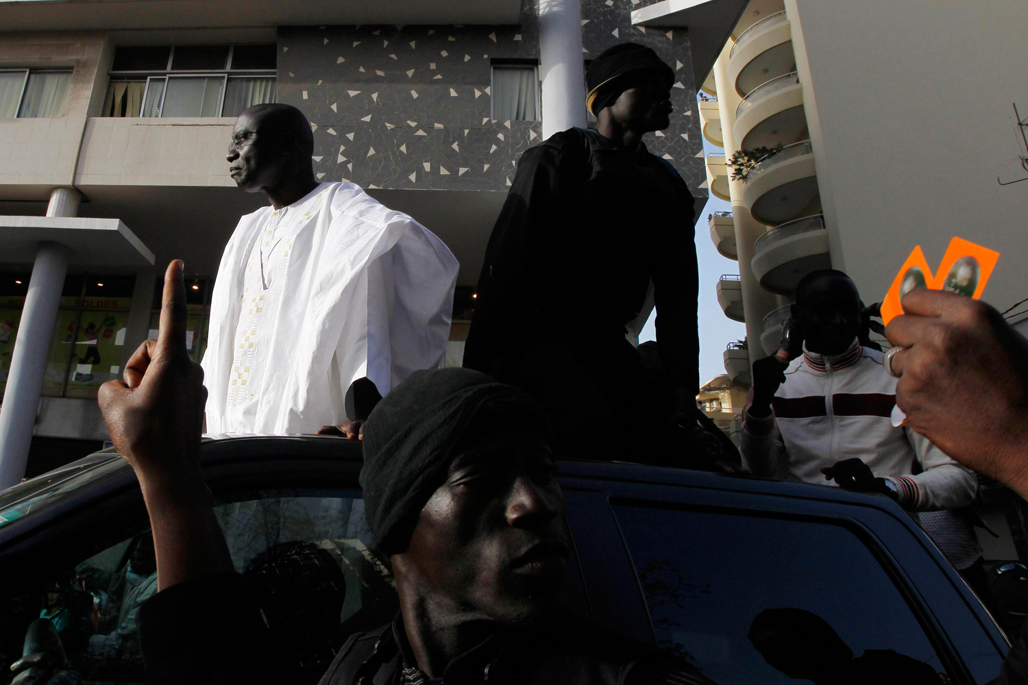 Feb. 24, 2012. Senegal's presidential candidate Seck attends an election campaign rally in Dakar.