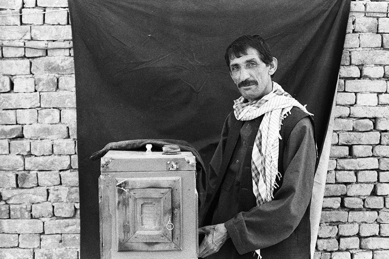 Qalam Nabi, Afghan box-camera photographer.