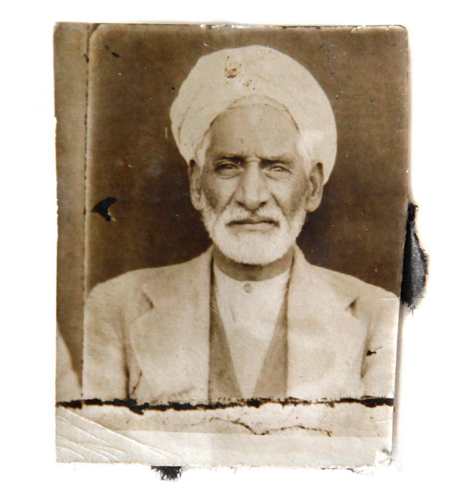 One of the oldest kamra-e-faoree photographs found by the Afghan Box Camera Project: the grandfather of Abdul Satar, a photographer.