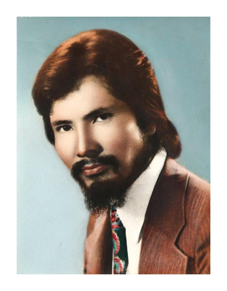 A hand-colored portrait.