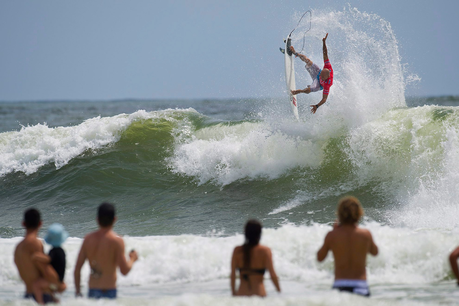 Feb. 27, 2012. Surfer Kelly Slater of the U.S. is seen dominating the famed Snapper Rocks break at the Gold Coast, Australia, netting the highest heat score of the morning a 16.36 (out of 20.00) to advance into round four.