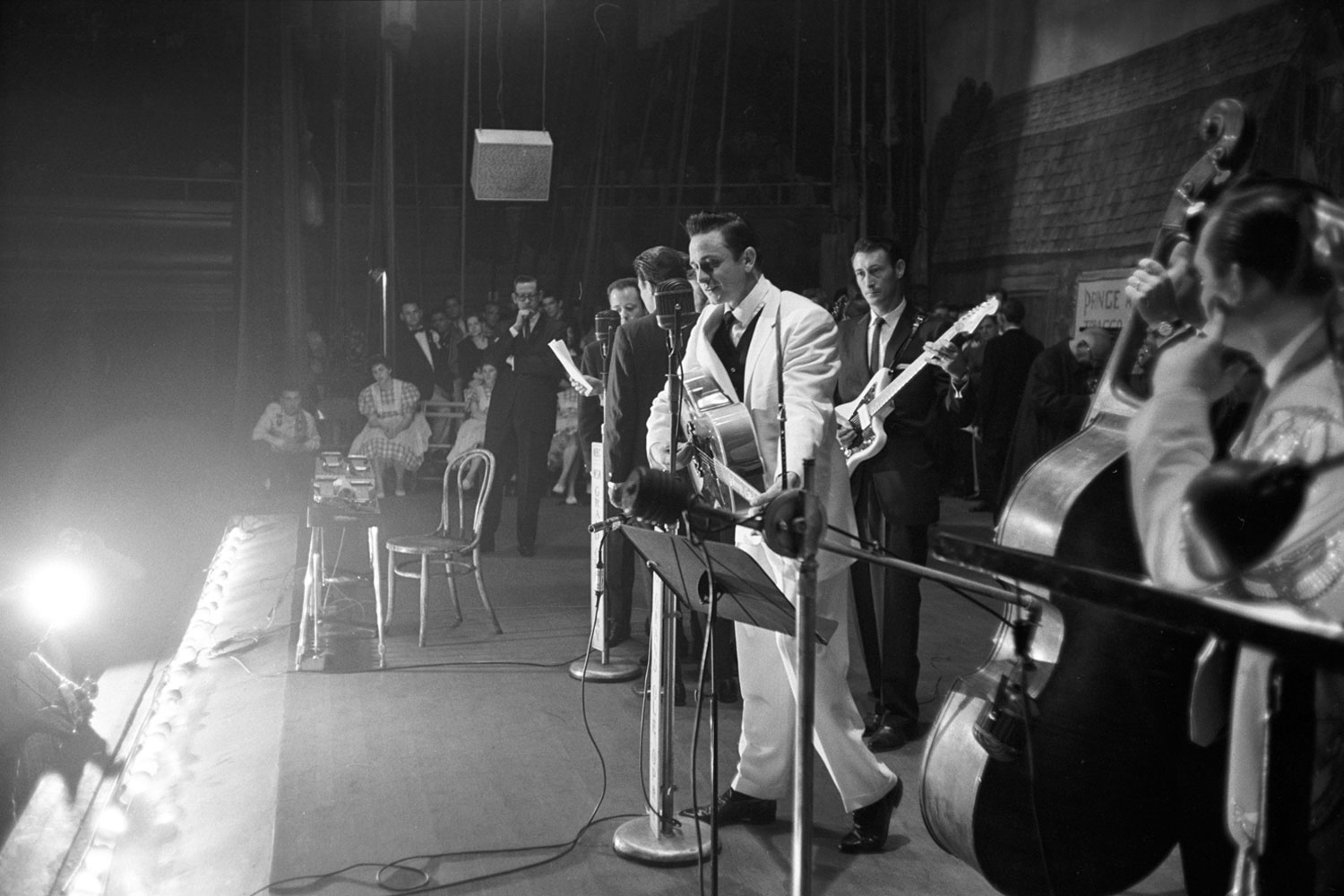 Performing at the Grand Ole Opry, November 1960.