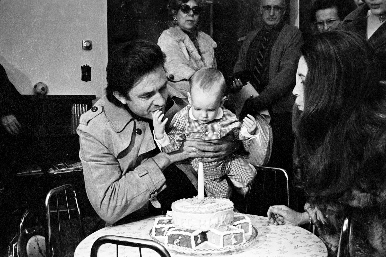 John Carter Cash's first birthday, February 1971.