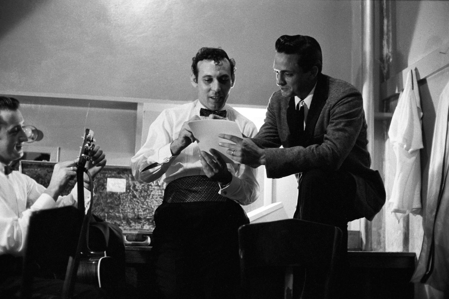Backstage with Carl Perkins, May 1959.