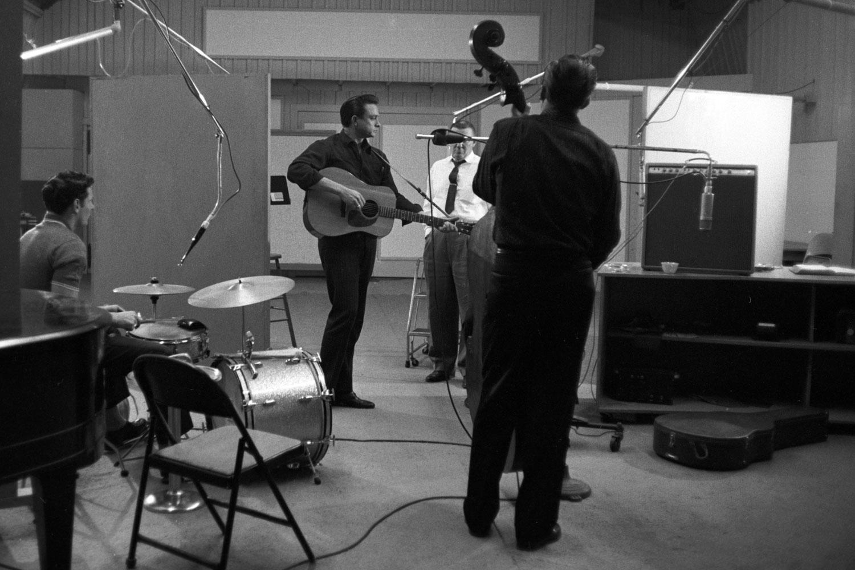 In the recording studio, October 1959.