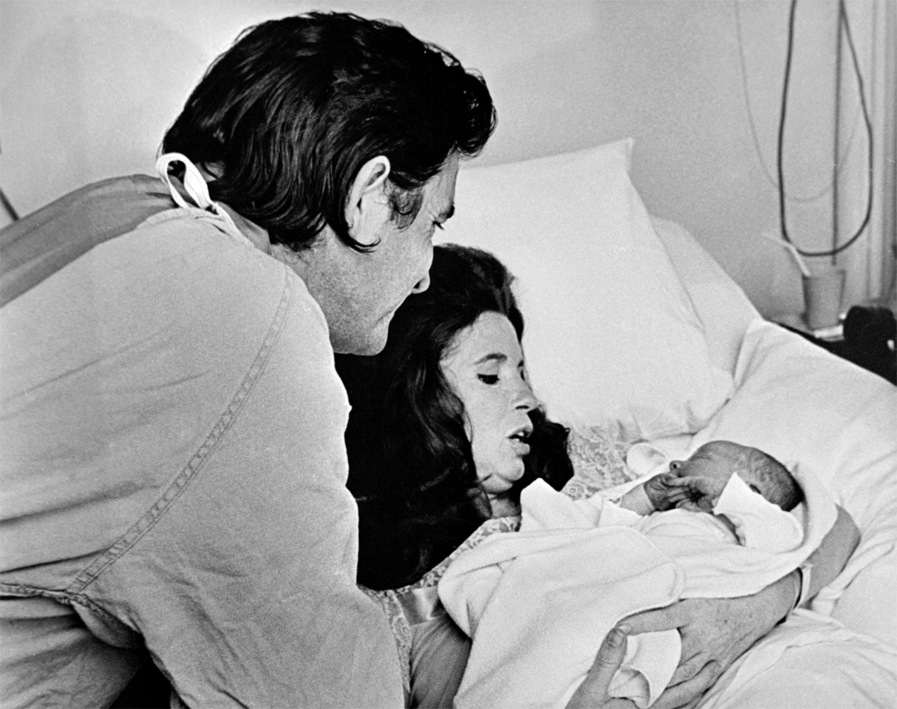 With June and newborn son John Carter Cash, March 1970.