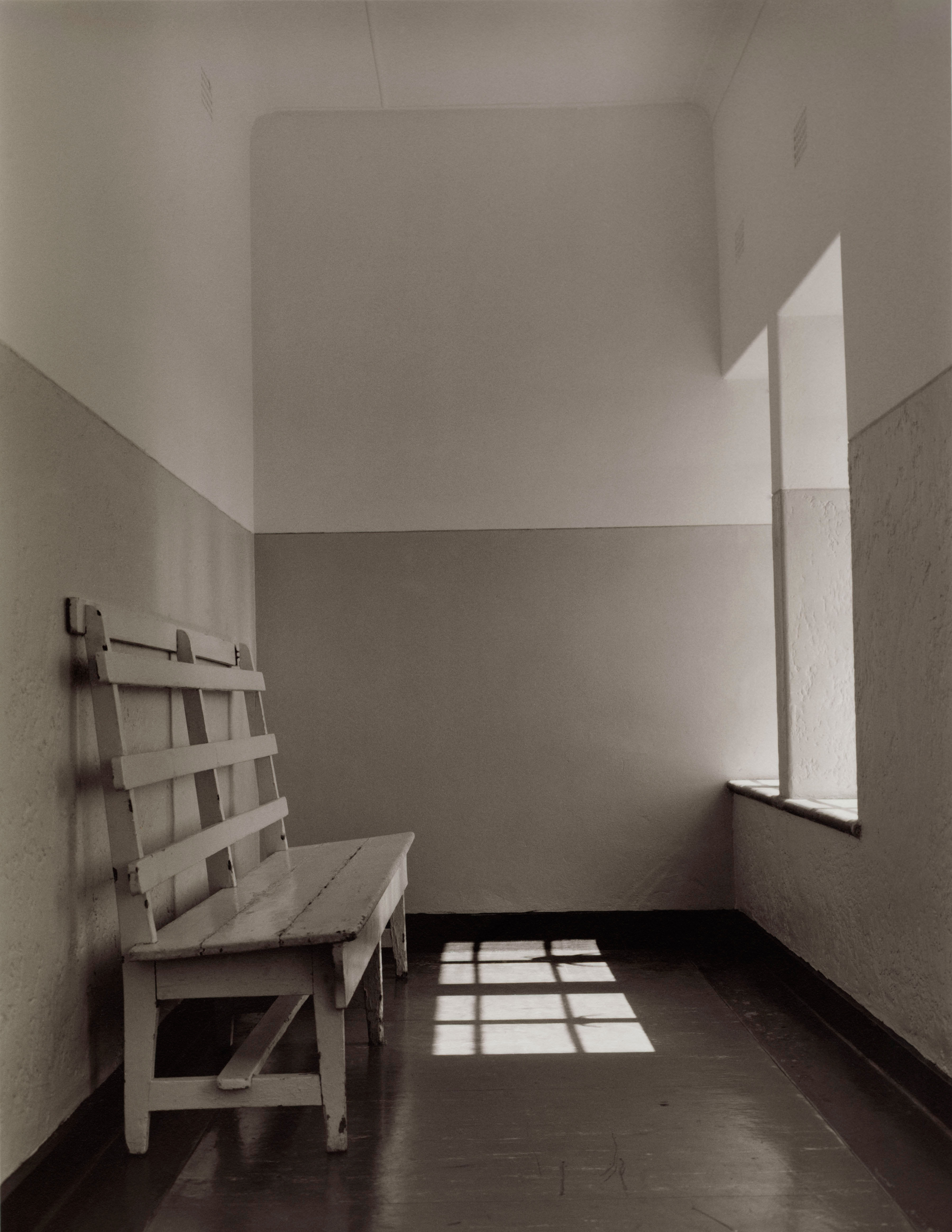 The waiting area for friends and relatives visiting their imprisoned loved ones.                                                                                             1992